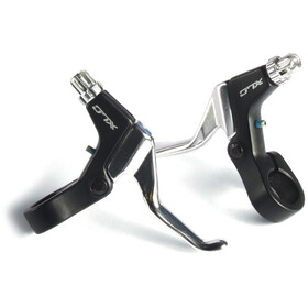 XLC BL-V03 Bremshebel Set für Mini-V-Brake schwarz/silber